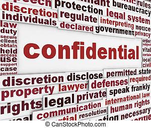 manifesto, concetto, confidenziale