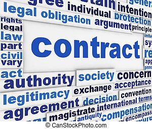 manifesto, concetto, contratto