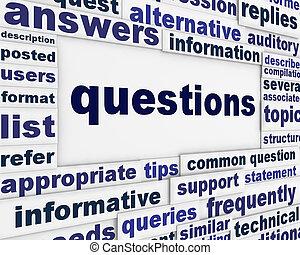 manifesto, concetto, domanda