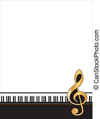 manifesto, cornice, musica, intrattenimento
