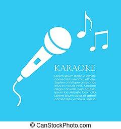 manifesto, disegno, karaoke