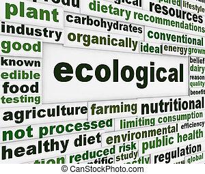 manifesto, ecologico, concetto