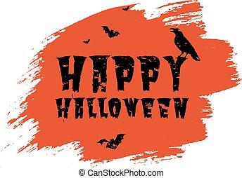 manifesto, fondo, macchia, trasparente, felice, halloween