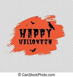 manifesto, macchia, arancia, felice, halloween