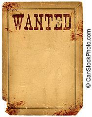 manifesto, macchiato, sangue, ovest, selvatico, desiderato, 1800s