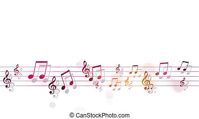 manifesto, multicolor, note musica