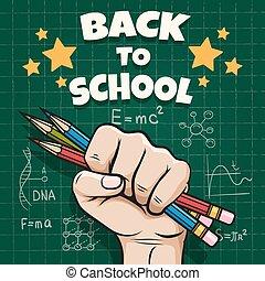 manifesto, scolari, indietro