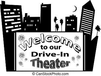 manifesto, teatro, drive-in