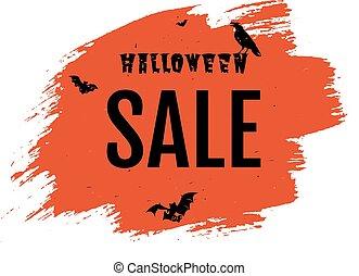 manifesto, vendita, felice, halloween, goccia