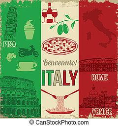manifesto, viaggiare, italia