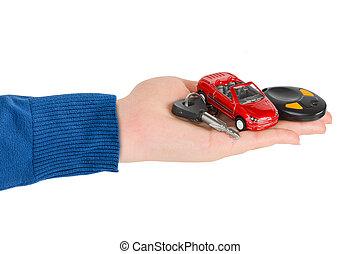 mano, chiavi automobile
