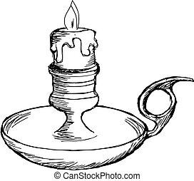 mantel, candeliere
