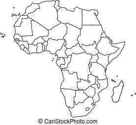 Cartina Dell Africa In Bianco E Nero.Mappa Bianco Nero Africa Canstock