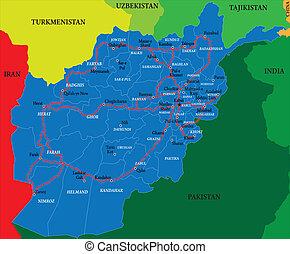 mappa, afghanistan