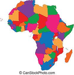 mappa, africa, colorito