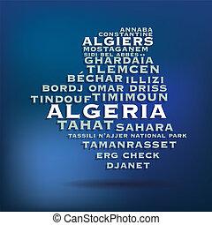 mappa, algeria