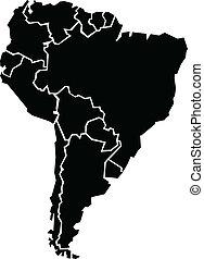 mappa, america, sud, chunky