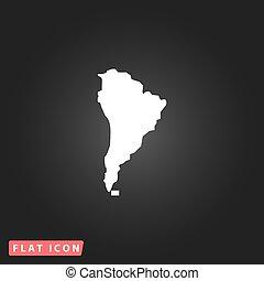 mappa, america, sud