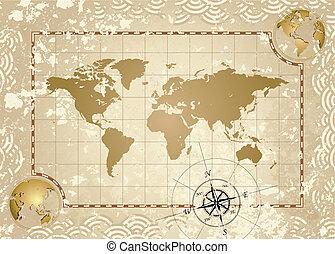 mappa antica, mondo