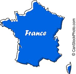 mappa, appartamento, illustrazione, francia, vettore, icona, design.