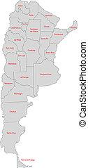 mappa, argentina, grigio
