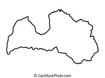 mappa, astratto, lettonia, nero