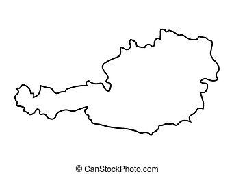 mappa, astratto, nero, austria