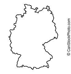 mappa, astratto, nero, germania