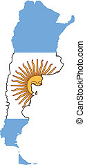 mappa, bandiera argentina