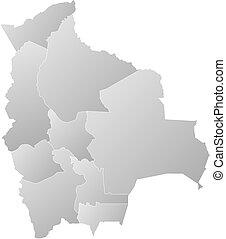 mappa, bolivia, -