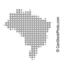 mappa, brasile
