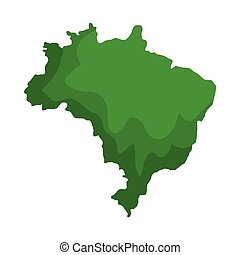mappa, brasiliano, isolato, icona