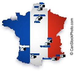 mappa, calcio, stadio, francia