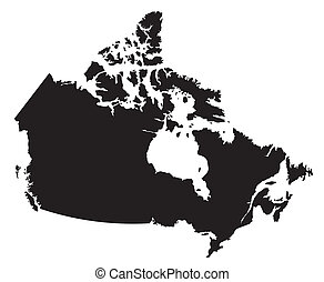 mappa canada, bianco, nero