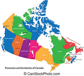 mappa canada, colorito