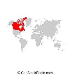 mappa canada, mondo