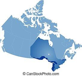 mappa canada, ontario, provincia, -