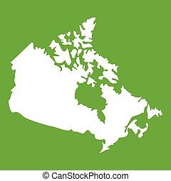 mappa canada, verde, icona