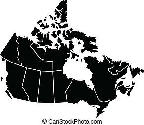 mappa, canada