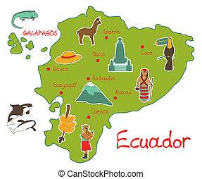 mappa, caratteristiche, ecuador, tipico