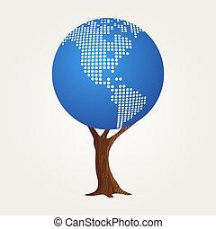mappa, concetto, comunicazione, globale, mondo, america