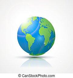 mappa, concetto, -, globo globale, africa, america, comunicazione, mondo, europe.