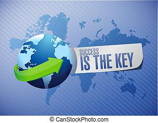 mappa, concetto, successo, segno, chiave, mondo