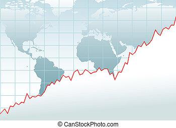 mappa, finanziario, globale, grafico, crescita, economia