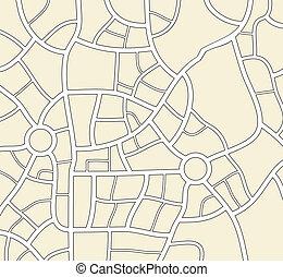 mappa fondo, città, vettore