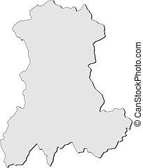 mappa, (france), auvergne