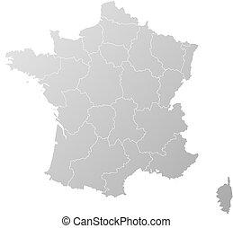 mappa, -, francia