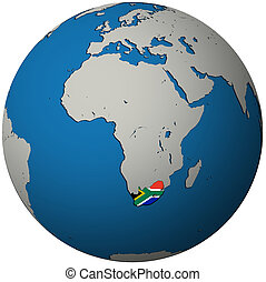 mappa, globo, africa, bandiera, sud