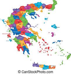 mappa, grecia