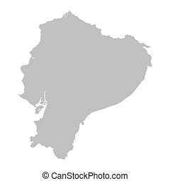mappa, grigio, ecuador
